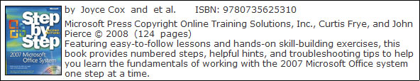 Step by Step, 2007 Microsoft Office System